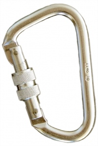 Alloy Carabiner Offset Shape Screw Gate