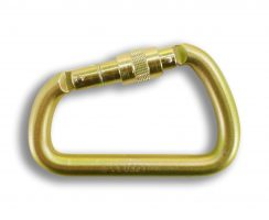 Steel Offset Carabiner Screw Gate
