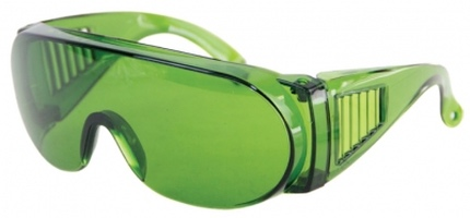 Green Safety Glasses Polycarbonate