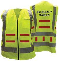 Day Night Vest Emergency Warden
