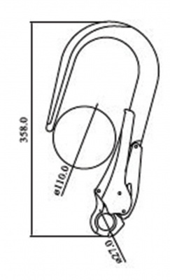 Giant Alloy Scaffold Hook