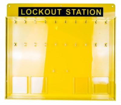 Lockout station 20 locks