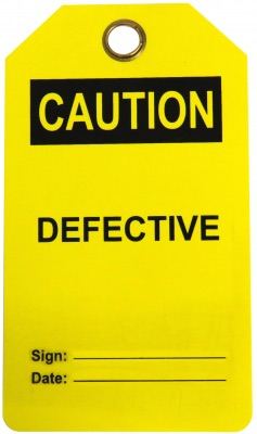 Caution Defective Tag