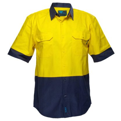 two Toned Shirt Short Sleeves